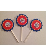 Autism Cupcake Toppers Birthday Party Anniversary Red Yellow Blue Handma... - $12.00
