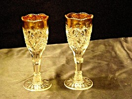Vintage Medium weight Cut Glass Goblets with Detailed DesignAA19-LD11926 image 2
