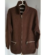 Vintage J. Percy for Marvin Richards 100% Wool Brown Coat Women Size Large - £7.34 GBP