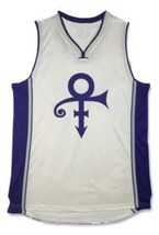 Prince The Rock Star Basketball Jersey Sewn White Any Size image 1