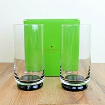 Lenox Kate Spade NY Charles Lane Hiball Glasses Set of 2 Color Smoke NIB - $19.99