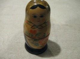 "Vintage Matryoshka 5 1/2""  Russian Nesting Dolls Dolls Set of 5 Made In ... - $35.00"