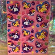 Lisa Frank Complete Sticker Sheet S213Heart Style Butterflies Kittens Balloons