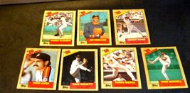AA11986 Topps Baseball LOT 7 Cards '86 RECORD BREAKERS MINT Vintage AA19-BTC4000 image 3