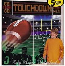 FOOTBALL TOUCHDOWN Happy Birthday Scene Setter party wall photo BACKDROP... - $11.20