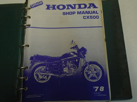 1978 HONDA CX500 CX 500 Service Shop Repair Manual Factory OEM Book USed... - $89.09