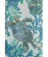Sea Life Swimming Among Seaweed Vinyl Flannel Back Tablecloth 52 x 90 Ob... - $19.79