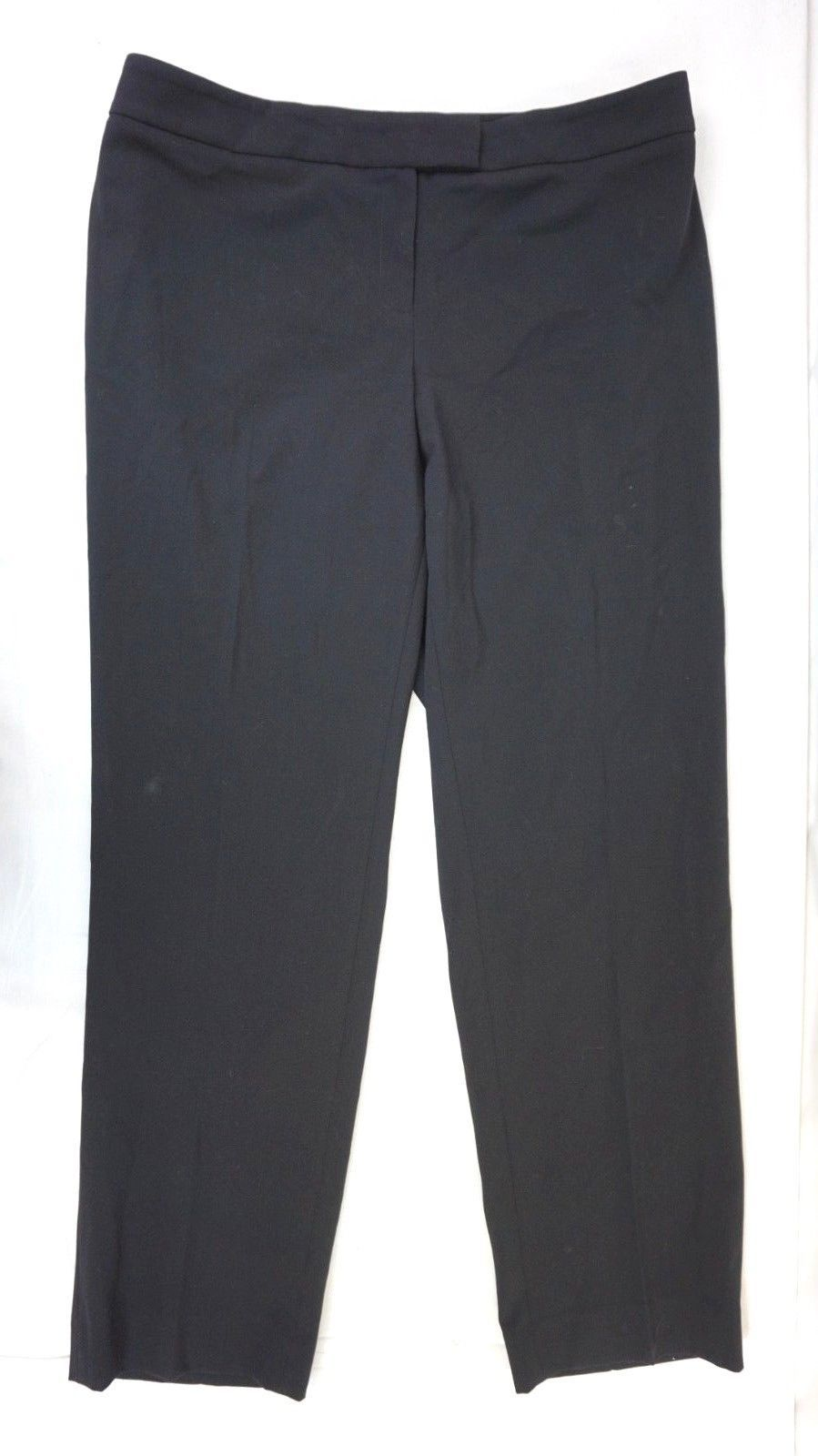 NWT ANNE KLEIN Women's Black Stretch No Pocket Dress Pants Plus Size 14W x 30