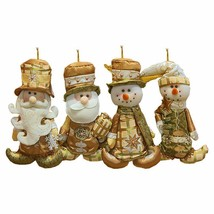 1pc Vintage Christmas Snowman Santa Claus Hanging Ornaments Xmas Tree De... - $12.91