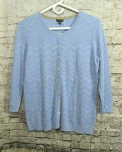 New with tags Talbots Cardigan Blue Color Women Size M Petite #E1 - $19.34