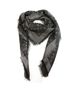 Louis Vuitton monogram Shine black with silver shawl weaved jacquard sil... - $494.01