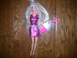 Mattel 2000's Barbie Doll Dress, Barrette, Purse, Hanger 4 Piece Set - $8.91