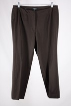Talbots Women's Petite Plus 22 Brown Heritage Fit Straight Leg Dress Pants - $13.60