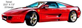 Red Ferrari Laser Cut Out By Bernard Oliver 7.5×23.5 - $19.80
