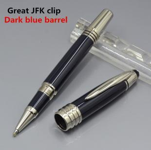 Great John F Kennedy Dark blue black wine red Resin and metal pen JFK clip stati