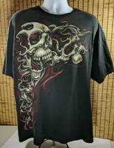 Skulls Corpse Cotton Shirt Biker Motorcycle Skull Theme Mens XL - $14.20