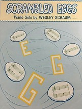 VINTAGE SHEET MUSIC SCRAMBLED EGGS SCHAWM PUBLICATIONS - $11.63