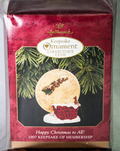 Hallmark Keepsake Membership Ornament 1997 Happy Christmas to All! NIB - $5.00