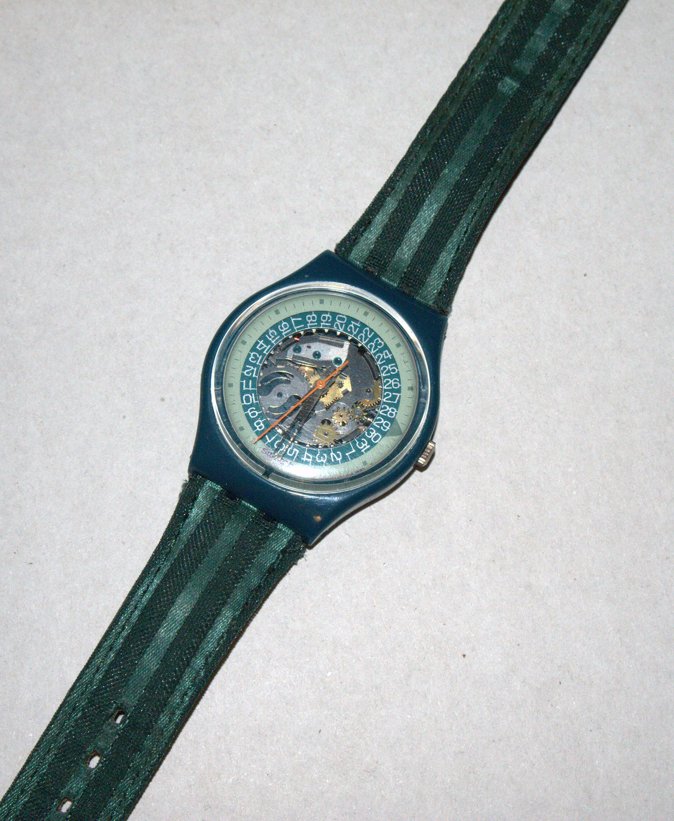 SWATCH Stop SSB100 Jess' Rush 1993 Swiss Made Wristwatch Rubber Strap Vintage