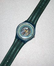 SWATCH Stop SSB100 Jess' Rush 1993 Swiss Made Wristwatch Rubber Strap Vintage image 1