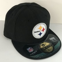 New Pittsburgh Steelers 6 5/8 NFL 59Fifty New Era Black Fitted Cap  A2558 - €18,29 EUR