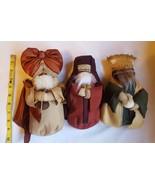 The 3 Wise Men (Magi) Nativity Scene Dolls • new • unused Christmas deco... - $75.23