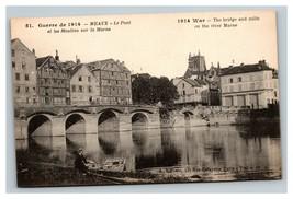 Vintage 1914 Photo Postcard WW1 Bombing Damage Bridge Mills Marne France - $17.84