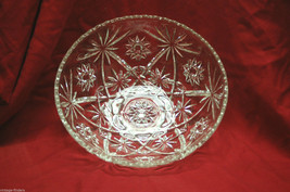 "Vintage Anchor Hocking EAPC Clear Glass 10-3/4"" Serving Bowl Dish Star o... - $24.74"