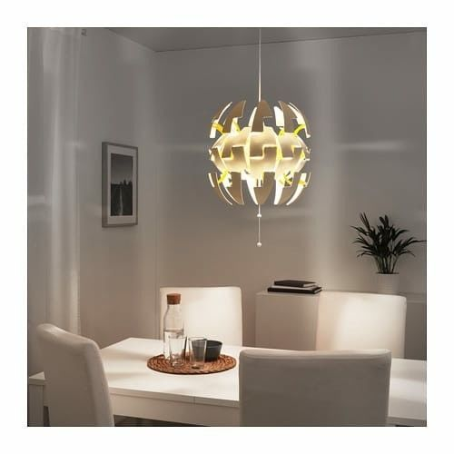 NEW IKEA PS 2014 MODERN PENDANT LAMP WHITE,YELLOW COLOR 14 ""