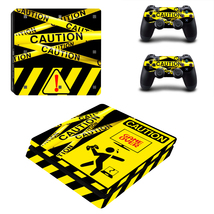 PS4 Slim Consoles Controllers Caution Sign Game Over Vinyl Skins Decals ... - $13.50