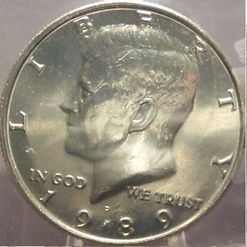 Primary image for 1989-P Kennedy Half Dollar BU In the Cello #0707