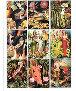 pinup girl mermaid altered vintage art aceo collage sheet print craft pa... - $3.99