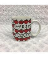 Teacher Gift Coffee Mug with Apples Vintage 1986 Chris Davenport Enesco - £10.18 GBP