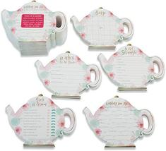 Kate Aspen Floral Teapot 5 Set of 30, 150 Games and Advice Cards for Bri... - $19.30