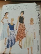 McCall's M4387 Misses Semi-Fitted Gored or Flared Skirt Size AAX (4-6-8-10) - $13.72