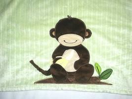 Lambs & Ivy MONKEY W Bananas Baby Blanket Green Brown Unisex Lovey 30x40... - $16.55