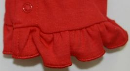 Blanks Boutique Long Sleeve Red Snap Up Ruffled Romper 12 months image 5
