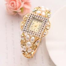 Wholesale Lady Noble Bangle Watch Crystal Geneva Quartz Watches Women Wristwatch - $18.64