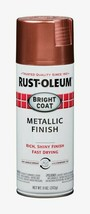 Rust-Oleum Rose Stops Rust Bright Coat Metallic Finish 11oz Spray Shiny 331255 - $14.99