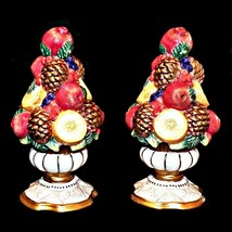 Fitz and Floyd Classics Winter Spice Handcrafted Holiday Salt Pepper Shaker Set - $37.99