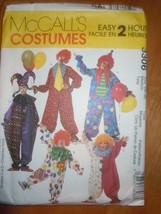 McCall's Clown & Jester Costumes Size Medium 34-36 #3306 Uncut - $5.99