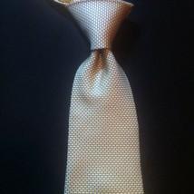 Tommy Hilfiger Silk Neck Tie Yellow Brick Wall Geometric Pattern EUC 2 Tone - $9.27