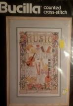 Bucilla Nancy Rossi Celebration Of Music 40512 Counted Cross Stitch Kit 1990 NOS - $17.75