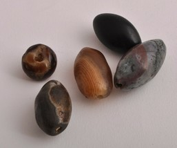 5 Antique ancient banded agate Carnelian beads - $197.01