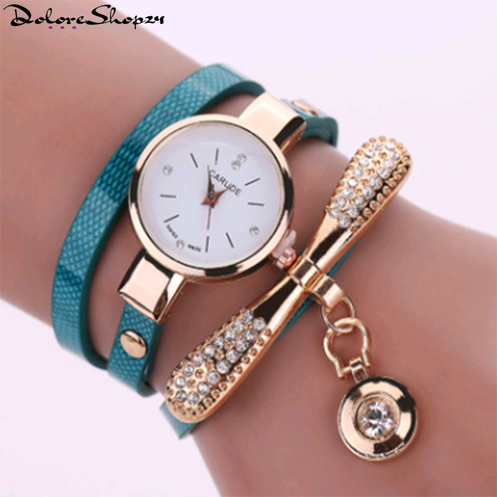 Primary image for Thin belt fashion ladies watch Casual three-ring winding bracelet watch Women's