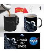 NASA I Need My Space Magic Mug Color Change Funny Tea Coffee Mug 11 Oz f... - $15.83
