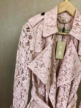 100% AUTH NEW BURBERRY PINK LACE LADIES TRENCH COAT JACKET image 4