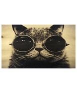 Vintage Handsome Cat Poster Wall Decal - $12.59