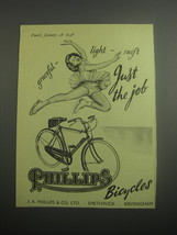 1948 Phillips Bicycles Ad - Graceful - light - swift Just the job - $14.99