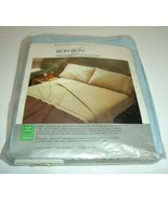 Vintage Sears Bon Bon Twin Fitted Perma Prest Muslin Sheet 765 Royal Blu... - $19.75